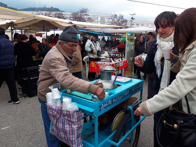 Салепи на рынке в Ксанти