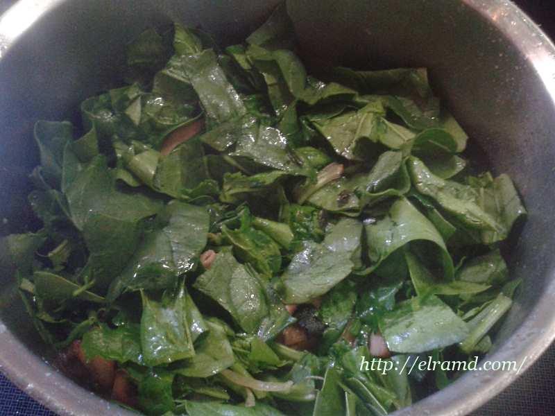 Добавляем шпинат
