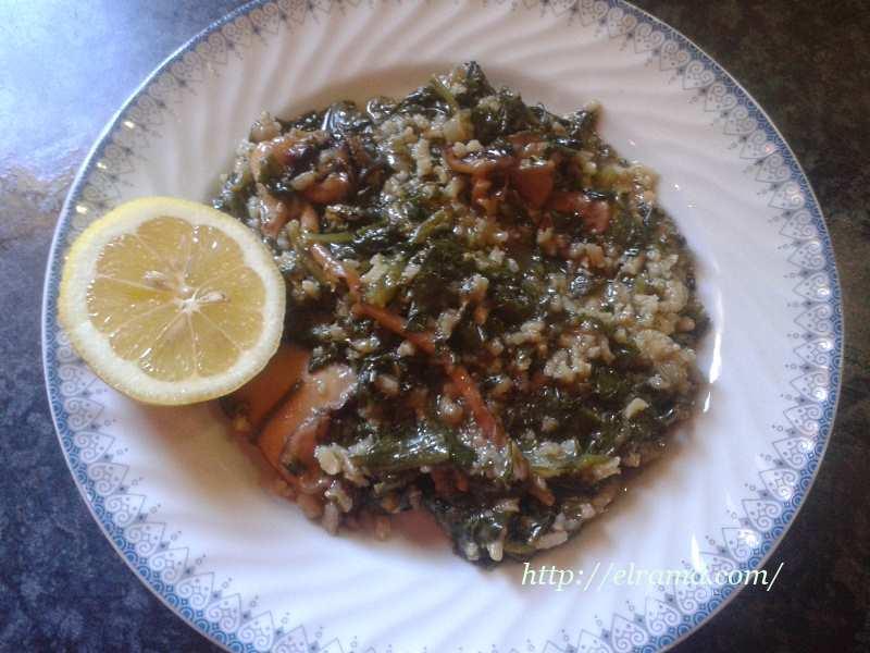 Как приготовить каракатицу со шпинатом