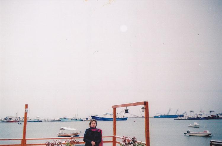 Лиман в Неа Муданья зимой