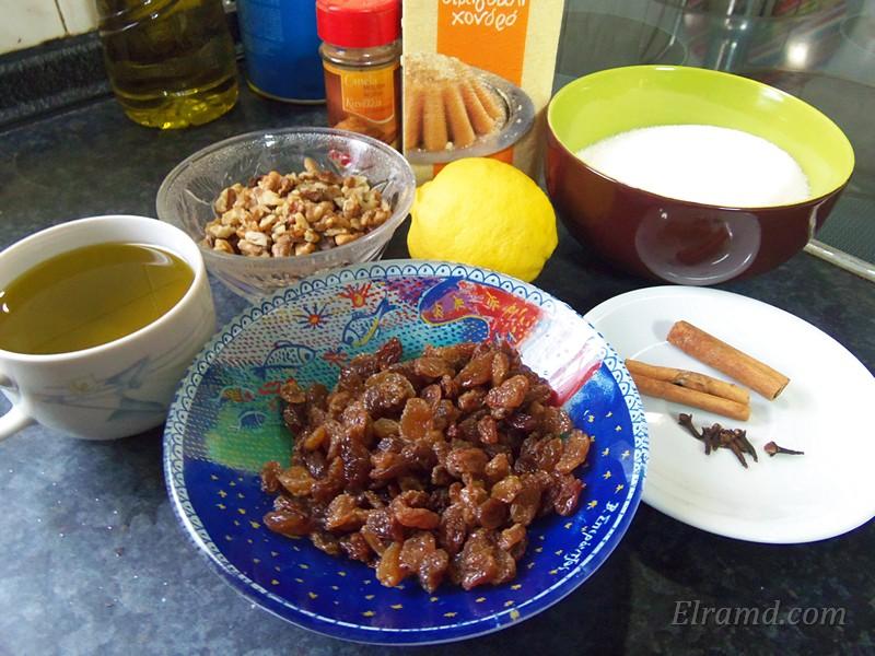 Ингредиенты для халвы из манки