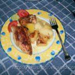 Курица с картофелем в духовке — Котопуло ме пататэс сто фурно
