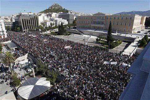 Демонстрация на Площади Конституции 19-20 октября 2011