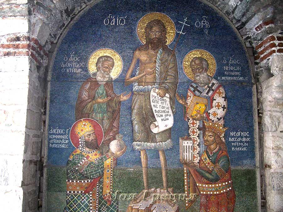 Фреска, Святой Афон