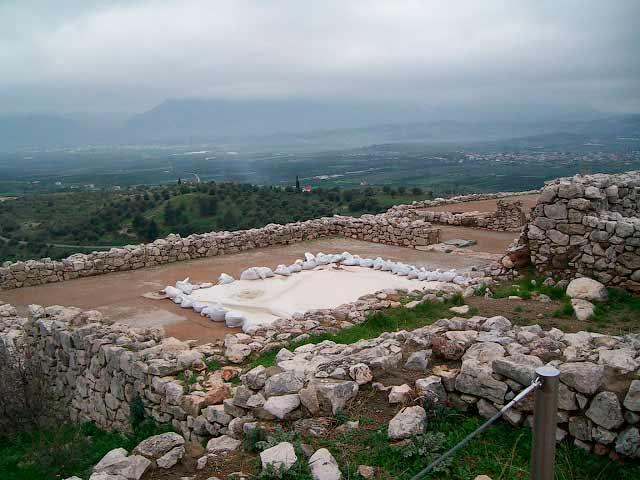 Тронный зал микенского дворца