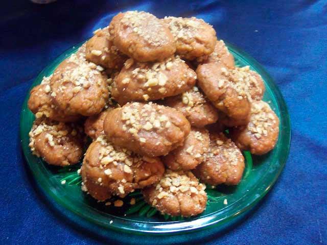 Греческое медовое печенье меломакарона