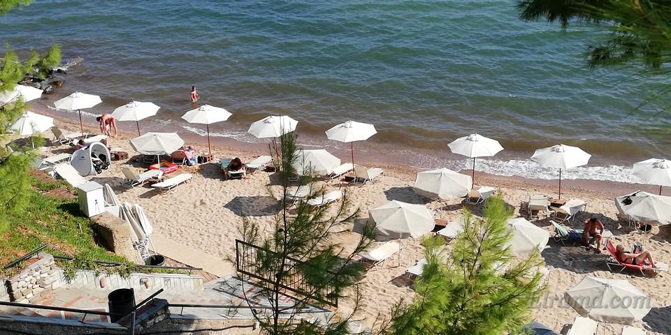 Пляж в Метаморфоси Халкидики