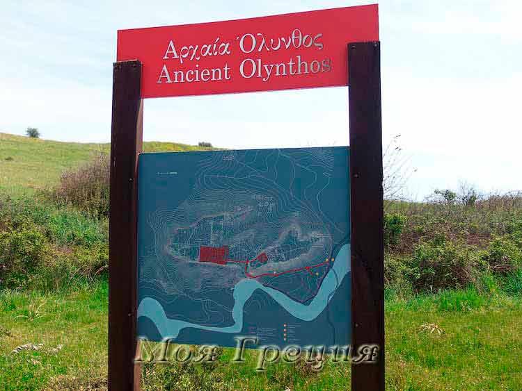 План древнего Олинтоса