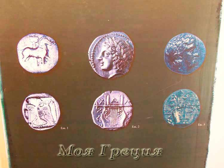 Древний Олинфос монеты