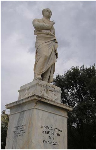 Памятник Каподистрии на Корфу