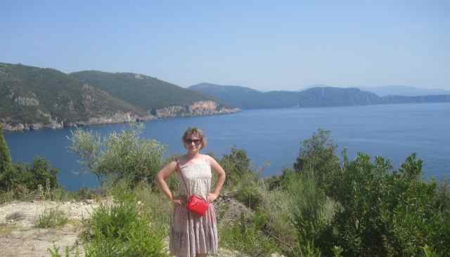Оксана Ганзюк, каникулы в Парге