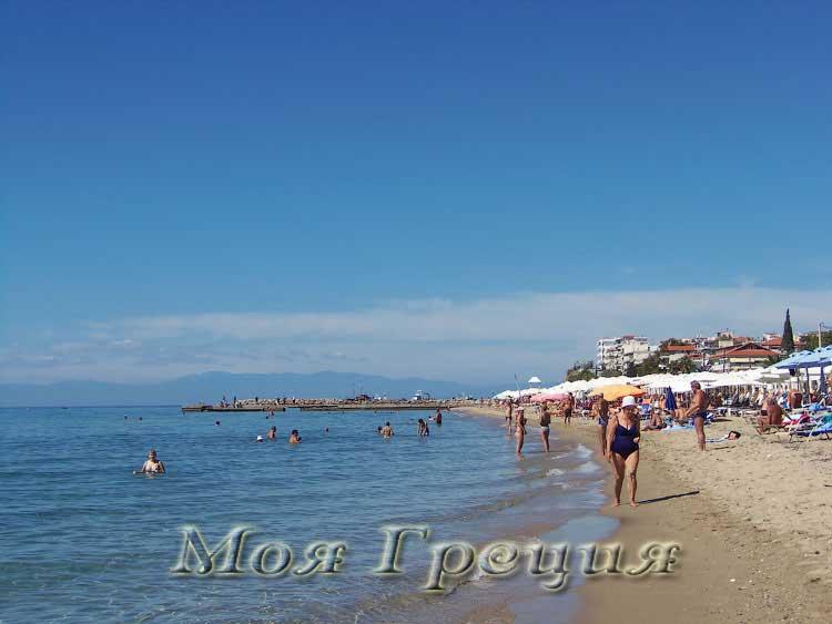 Пляж Калликратии, сентябрь
