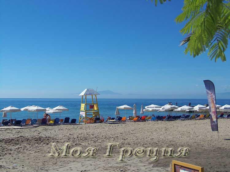 Неа Калликратия, пляж в сентябре