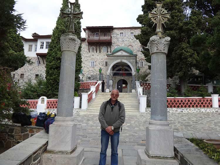 Сергей Рязанов в монастыре Св. Пантелеймона, Святой Афон