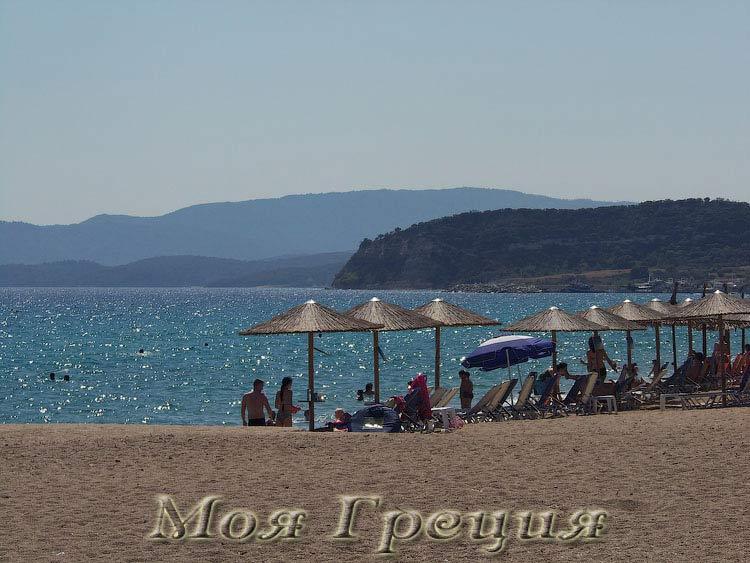 Иериссос, городской пляж