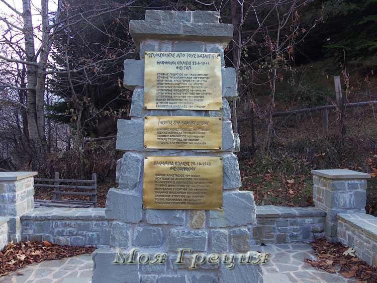 Памятник расстрелянным, Мецово