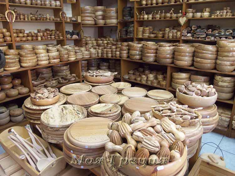 Деревянная утварь в Мецово