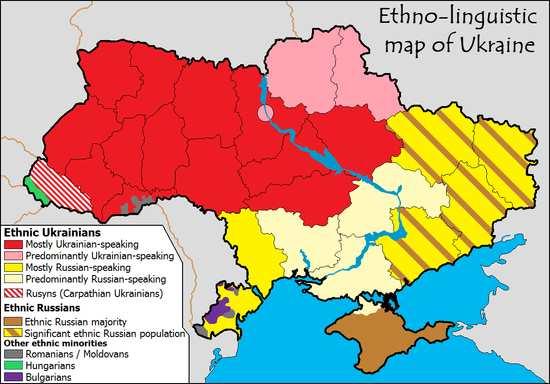 Этно-языковая карта Украины