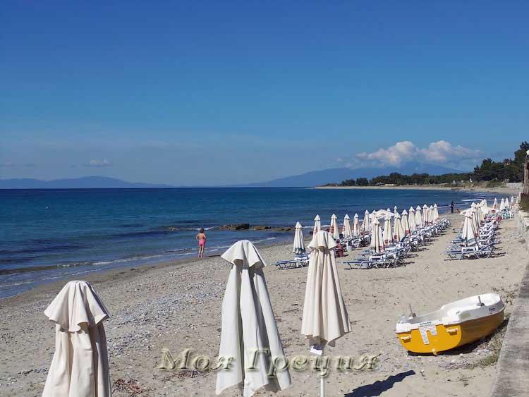 Пляж у набережной Посиди