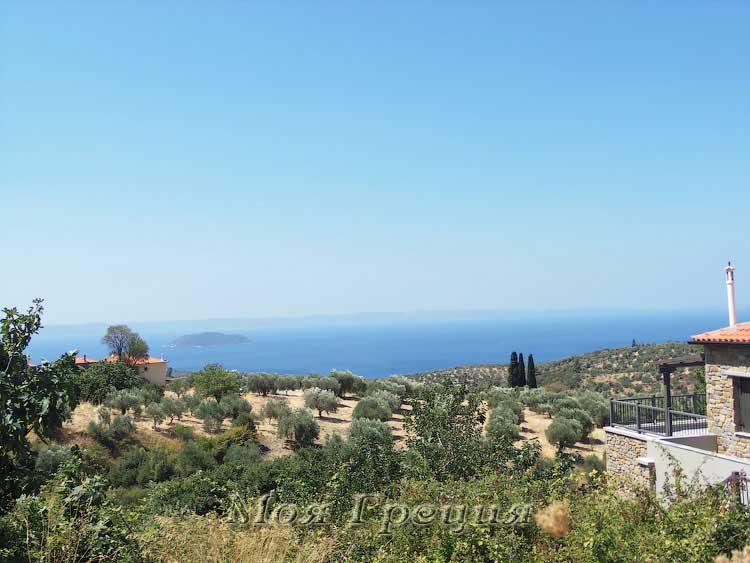 Парфенонас, вид на море