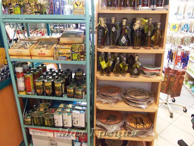 Греческие сувениры - оливковое масло и мед