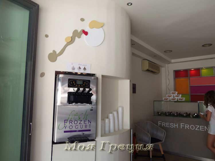 Автомат, выдающий йогурт-мороженое