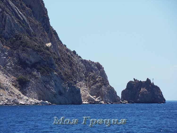 Оконечность Афона, дальше - открытое море