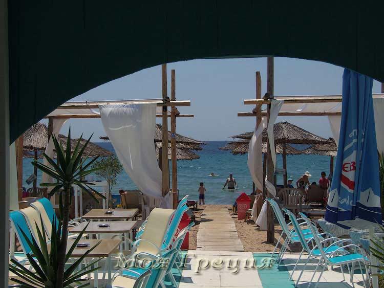 Кафе Мирамаре, пляжная часть