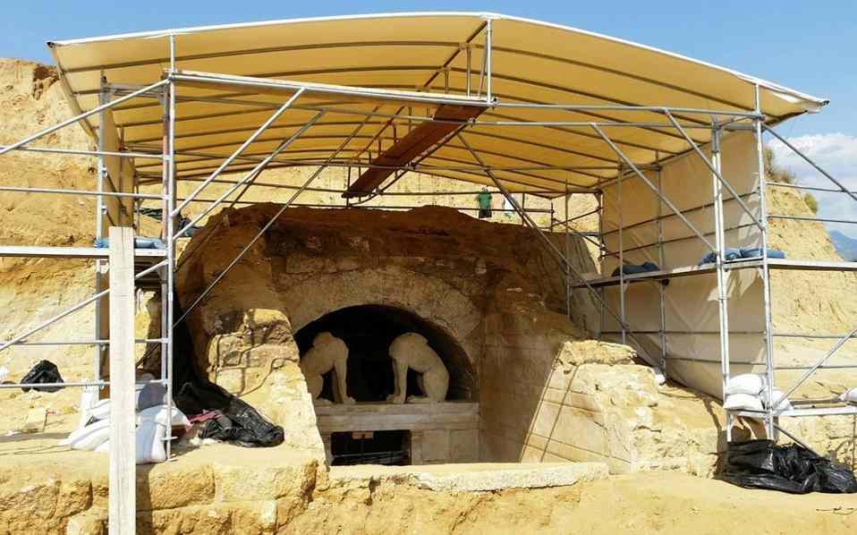 Защитный навес над раскопками, Амфиполь