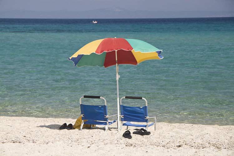 Пефкохори, пляж в сенттябре