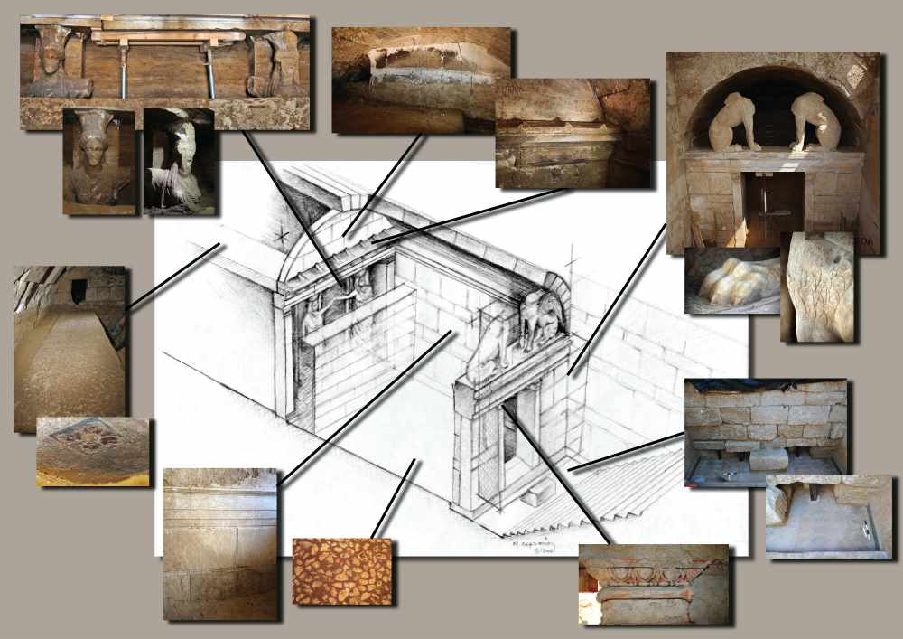 Трехмерное воспроизведение входв в гробницу Амфиполя