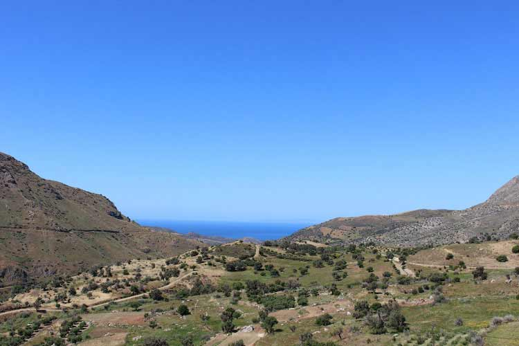 Путешествие к югу острова Крит, вид на Ливийское море