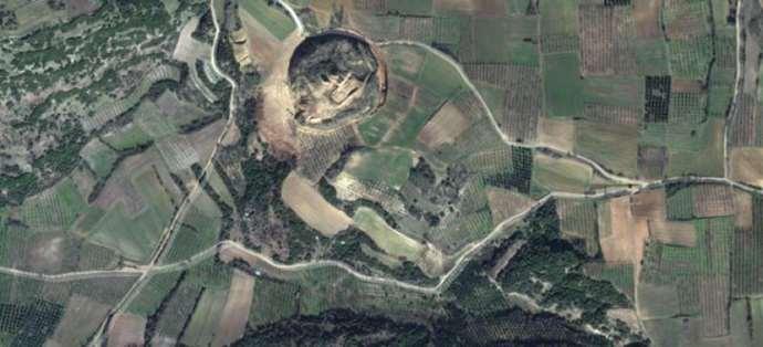 Спутниковый снимок гробницы в амфиполе