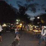 Площадь в Ханиоти вечером