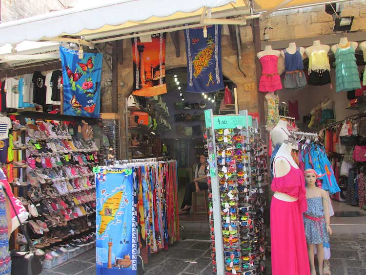 Сувенирные лавки в Старом Городе, Родос