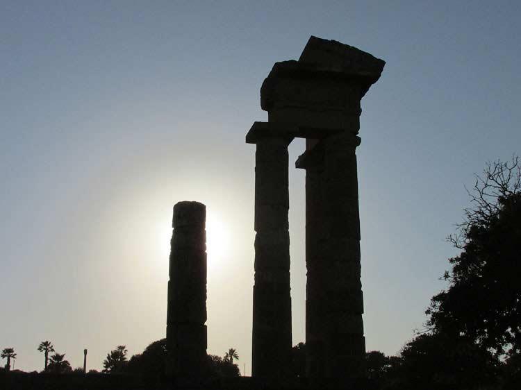 Акрополь вечером