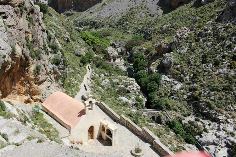 Храм Св. Николая, Курталиотское ущелье