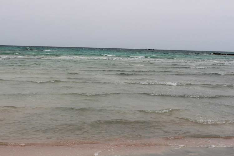 Ливийское море, пляж Элафониси в пасмурный день