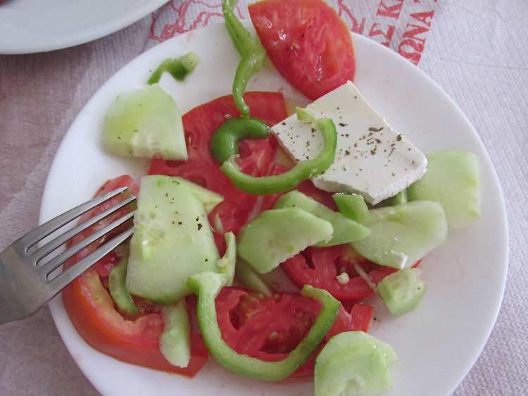 Скудный греческий салат