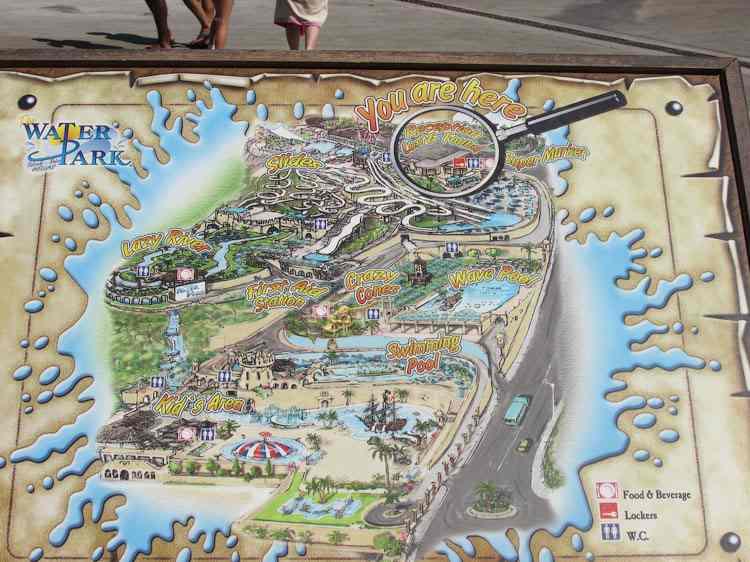 Карта Аквапарка, Родос