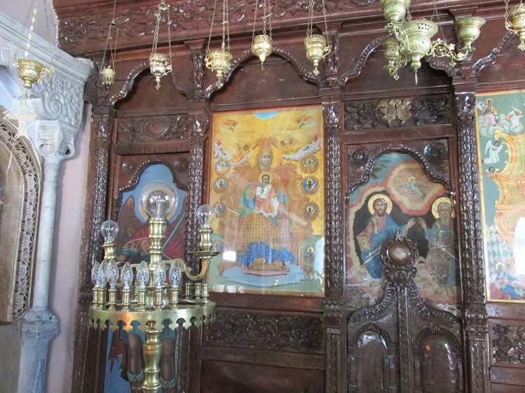 В монастыре  Девы Марии Клеопатры