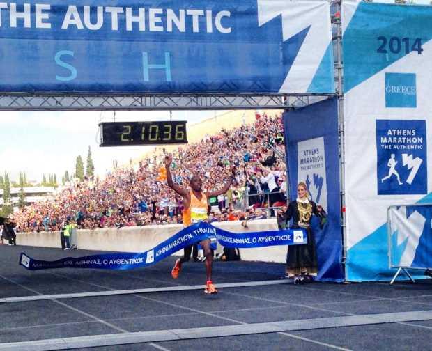 32-й Афинский Марафон - победитель Феликс Канди из Кении