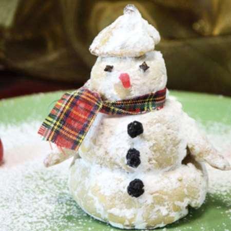 Круассан Снеговик