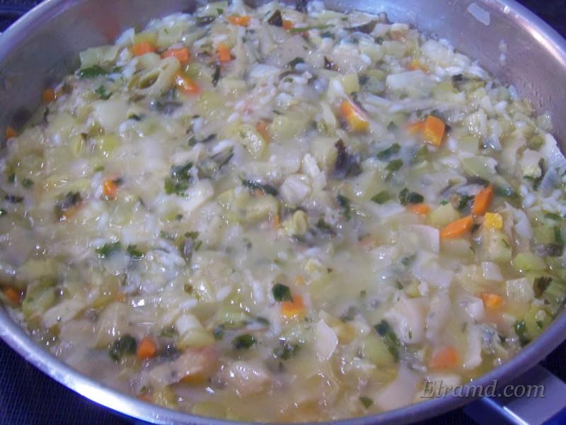 Тушить до готовности риса
