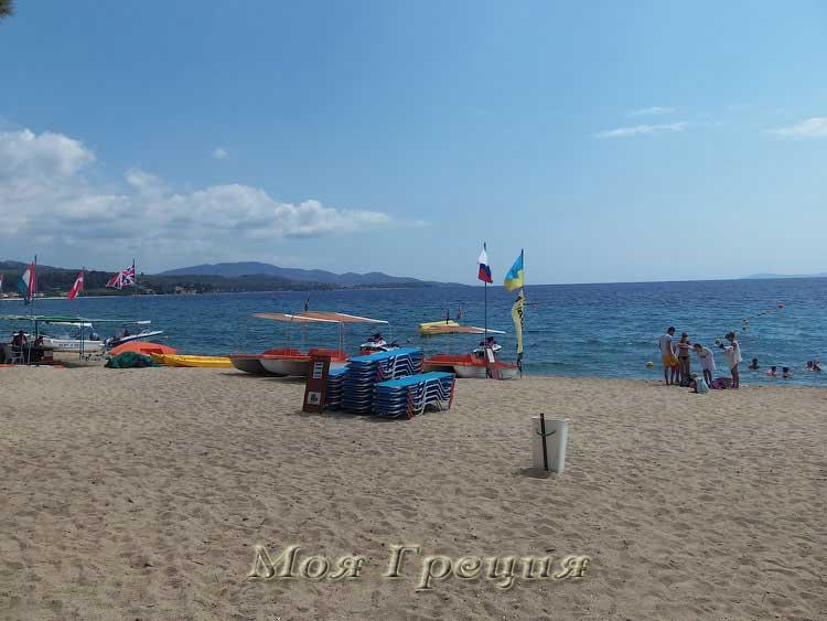 Пляж Лагомандра: водный спорт