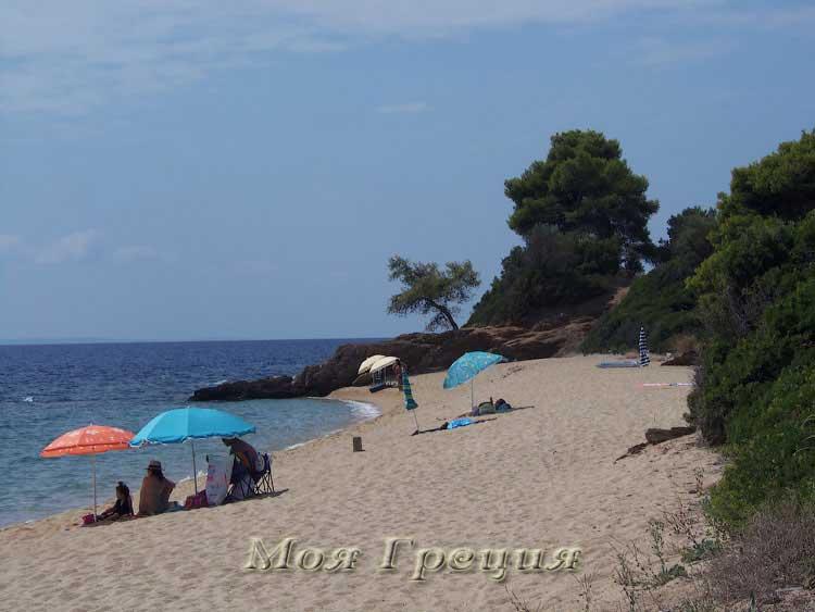 Пляж Лагомандра у северного мыса