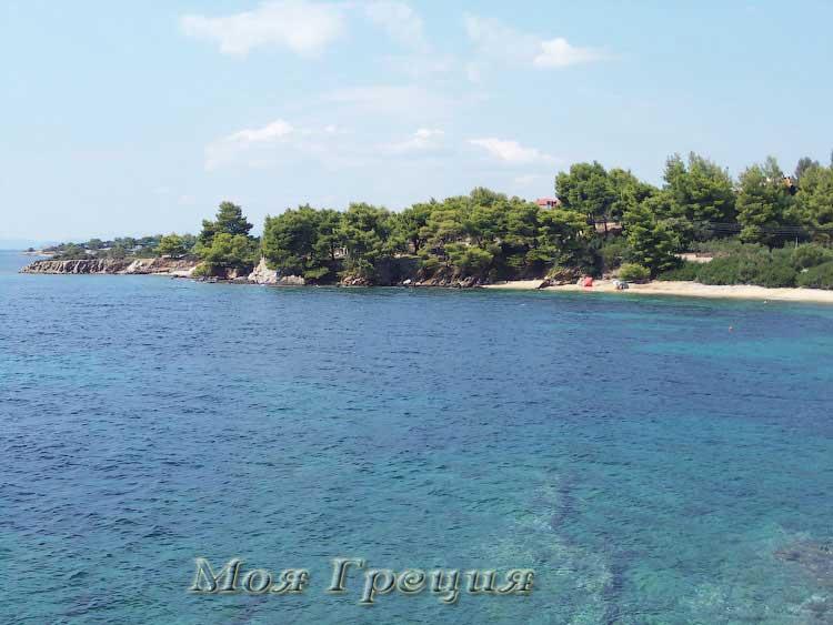 Северная бухта пляжа Лагомандры