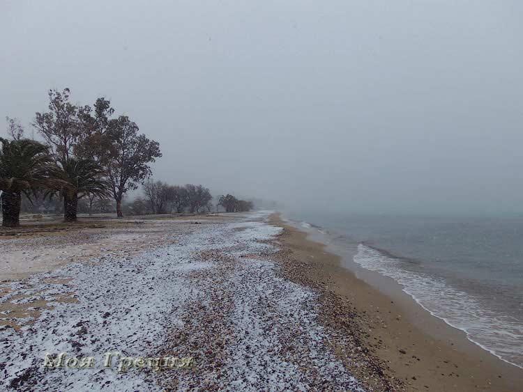Снег в Греции