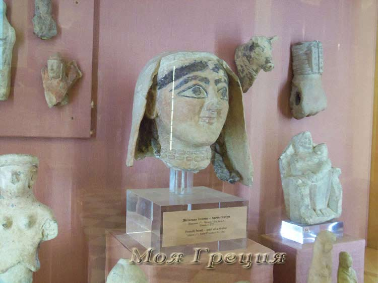 Женская голова, Идалион, 6 век до н.э.