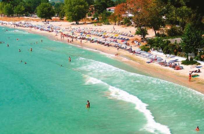 Остров Тасос, пляж Золотые пески